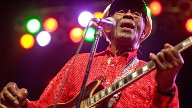 Chuck Berry, seen here performing in 2011 in Chicago, had prepared original material for a new album called CHUCK before his death. It will be released in June.