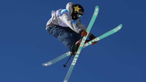 Alex Bellemare, seen competing in the men's slopestyle final on Sunday, earned a seventh-place finish on the last day of the freestyle world championships in Sierra Nevada, Spain.