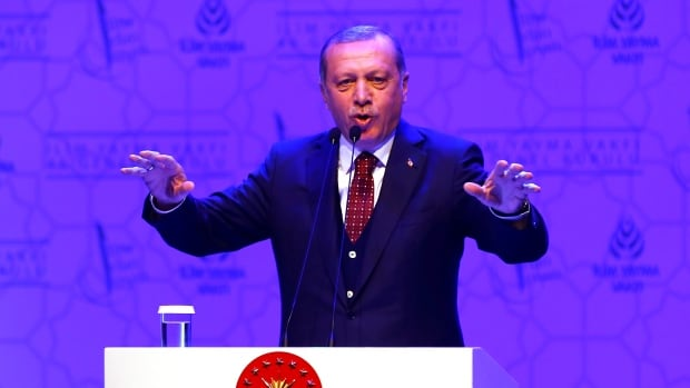 Turkish President Tayyip Erdogan on Sunday accused Germany of supported the a U.S.-based Muslim cleric who Erdogan blames for a failed coup.