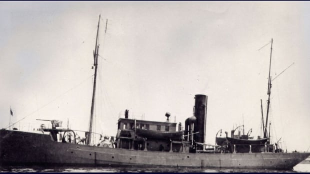 The  HMCS Thiepval sunk in Barkley Sound in the 1930's after assuming a variety of roles, including deterrence of foreign U-boats during the first world war.