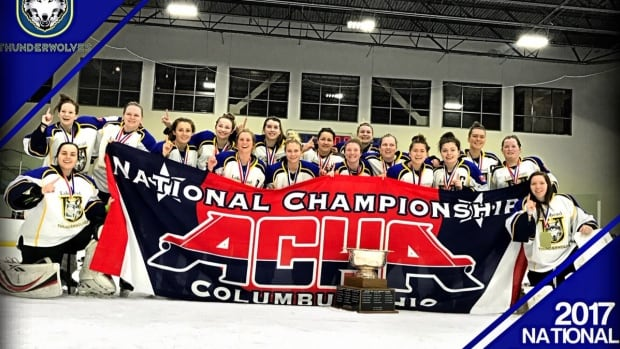 The Lakehead University women's hockey team has clinched the American Collegiate Hockey Association Division Two championship in their first official season in the league.