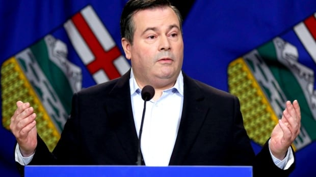 Jason Kenney held his first news conference as Alberta Progressive Conservative leader in Calgary on Sunday.