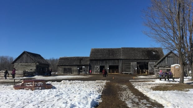 The Orr family has taken over the Log Farm on Cedarview Road, originally built in the 1850s.