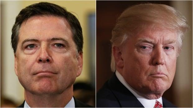 U.S. President Donald Trump has fired FBI Director James Comey, left.