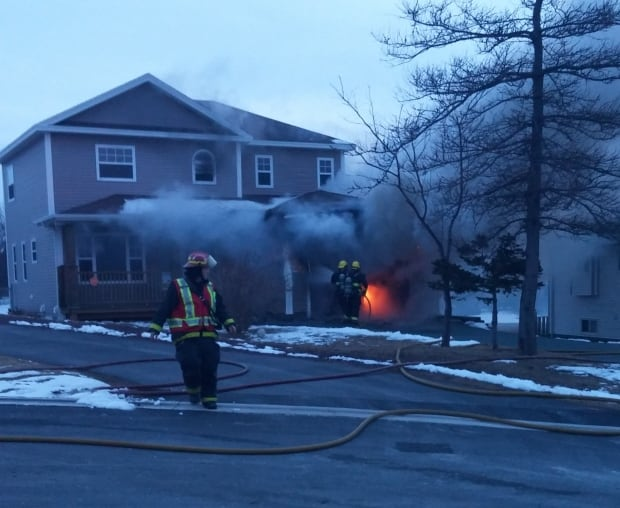 Granite Place house garage fire