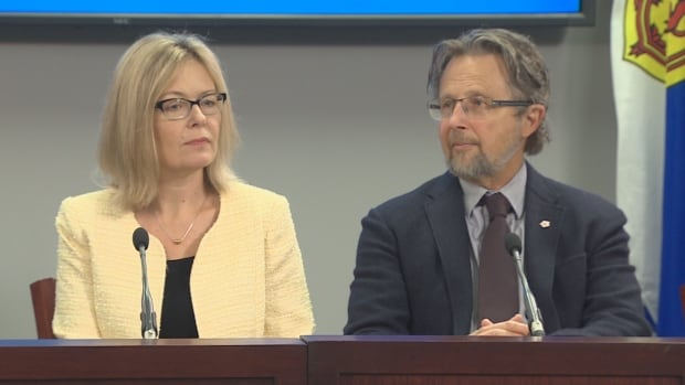 Starr Dobson, left, and Dr. Stan Kutcher are part of the minister's advisory panel on innovation in mental health and addictions.