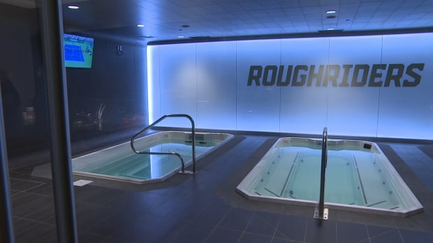 Mosaic Stadium hydrotherapy tubs