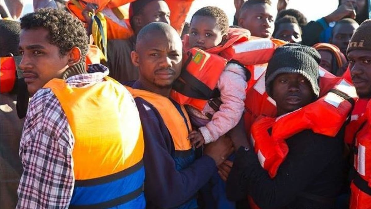 Thumbnail for A single rescue ship saved nearly 1,000 refugees from the Mediterranean this weekend - many of them children