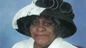 Momma Glasgow in church hat