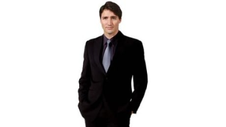 Cardboard image of Prime Minister Justin Trudeau offered for sale