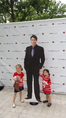 Trudeau cut out at Washington Embassy, July 1, 2016