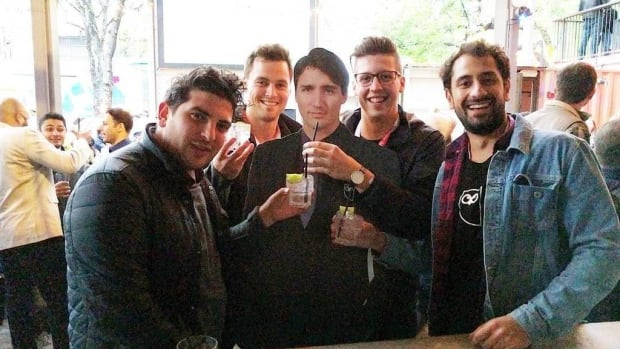This group selfie was posted recently on Twitter, showing visitors appearing with a cardboard cut-out of Prime Minister Justin Trudeau at an arts event in Austin, Texas.