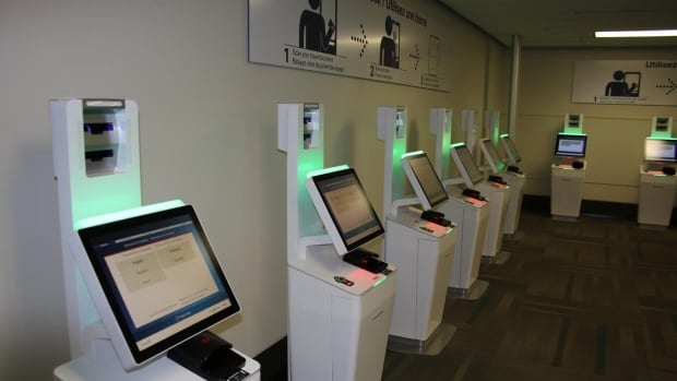 The new kiosks will a take a photo of the traveller and compare it to their passport picture.