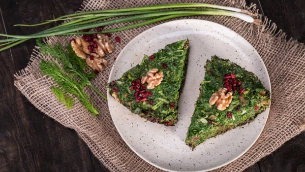 On The Coast food columnist Gail Johnson says kookoo sabzi is similar to a frittata, only with less egg and more herbs. We've got a recipe if you want to try and make it at home.