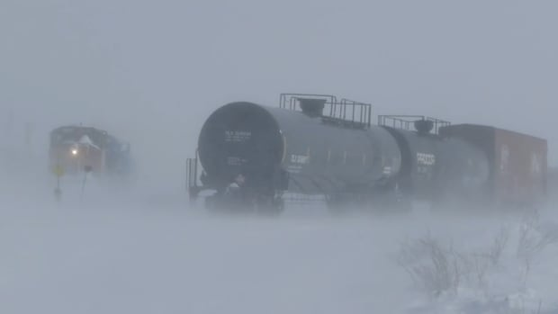 Keith McDougall watched the train roll into Churchill and went to the local grocery store to get fresh produce.