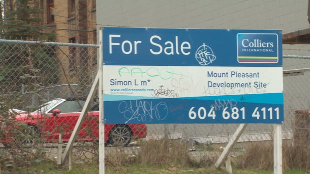 A property at East 6th Avenue west of Main Streets sits available for sale in Vancouver, B.C., on Mar. 20, 2017.