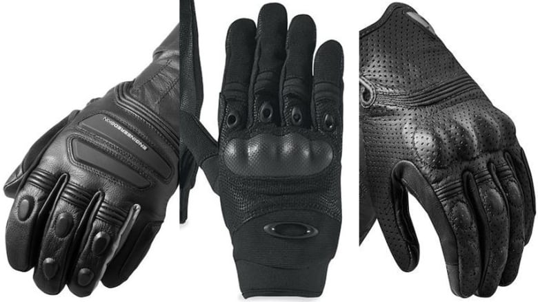 Ottawa police three brands reinforces gloves, Rev'It!, Oakley SI, Rev'It!