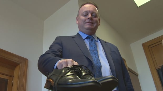 Kevin Doherty's budget shoes are an old pair with new soles.