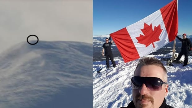 A flag was spotted from afar last week by a Whitehorse couple. The mystery was soon solved on social media.