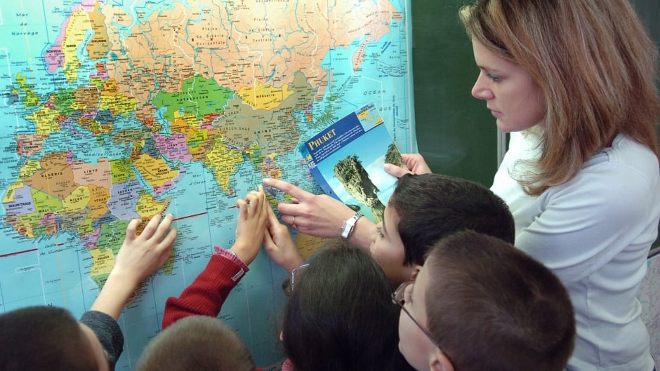 This map, used in classrooms the world round, distorts the relative size of countries for the ease of European colonial navigation.