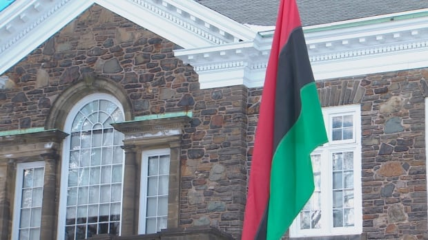 The pan-African unity flag was raised at Dalhousie University on Feb. 2.