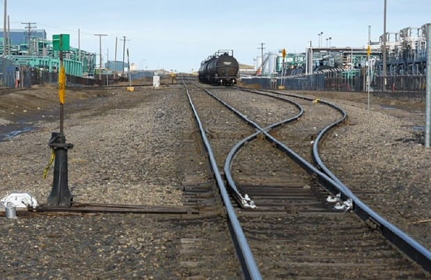 Regina Co-op refinerу train tracks