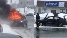 Gander Car fire split