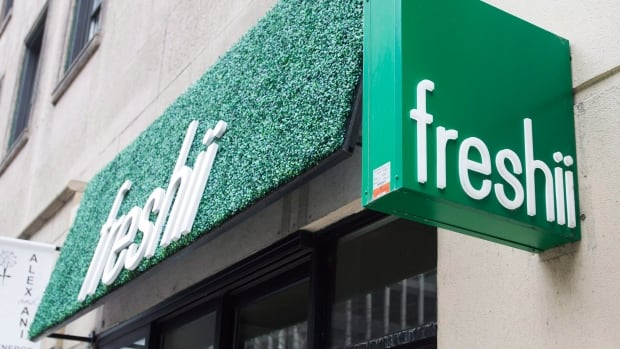 A Freshii restaurant is seen in Montreal on March 21, 2017.  The company laid out is plans to add up to 160 net new franchised outlets over the year as it released its fourth-quarter earnings on Wednesday.
