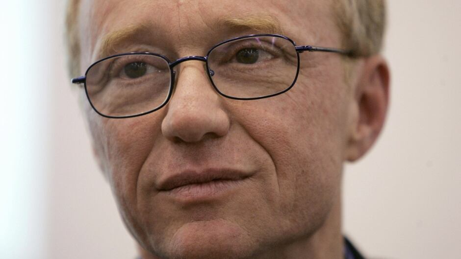 Renowned Israeli novelist and peace activist David Grossman, pictured at the Frankfurt Book Fair in 2005.