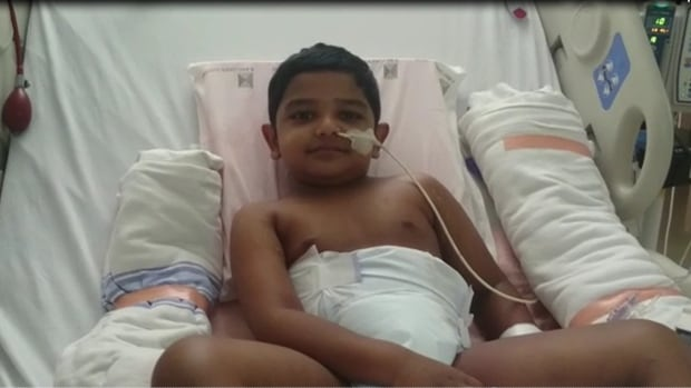 Emanuel Cherian's parents took him to SickKids after being dissatisfied with the diagnosis that their son had influenza.