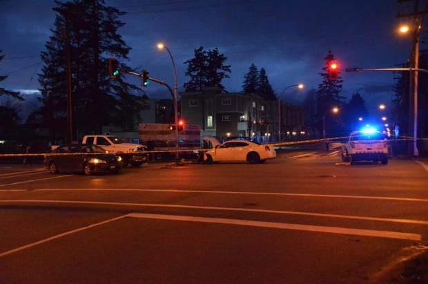 Surrey RCMP say one woman dead after van crashes into several vehicles