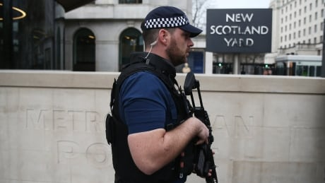 British police say attacker inspired by terrorism; 7 arrested in raids