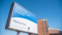 Hull hospital sign