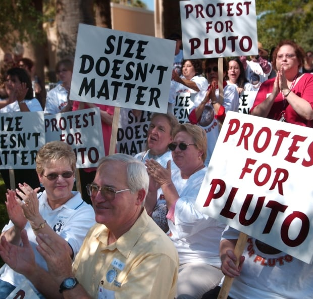 Pluto planet protest