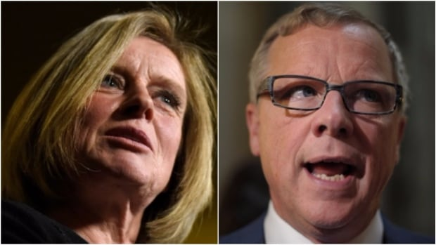 Alberta Premier Rachel Notley (left) blasted Sask. Premier Brad Wall's 2017-18 budget, which proposed a series of tax hikes and cuts to public services.