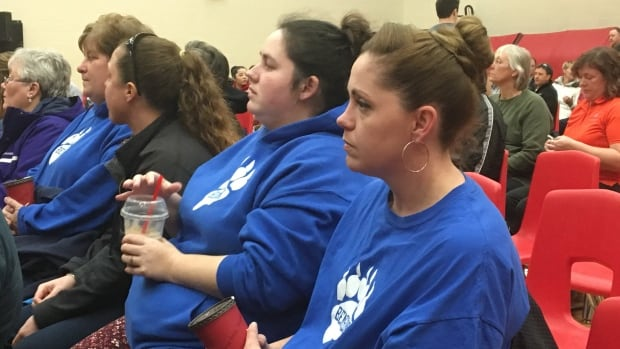 Parents wait anxiously to hear if councillors will vote to close Benson Public School.