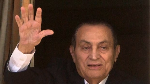 Ousted Egyptian President Hosni Mubarak, seen in this 2016 file photo, is said to be resting at home with his family.