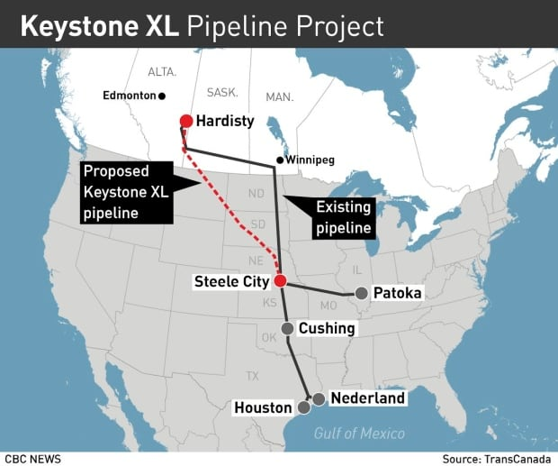 Keystone XL map March 2017