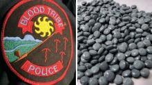 Blood Tribe police badge, fentanyl