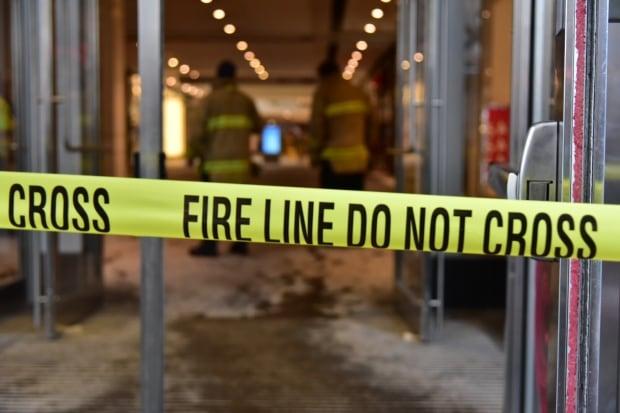 Firefighter do not cross tape