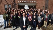 Rick Mercer at R. A. Riddell Elementary