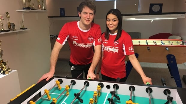Edmonton foosball players Will Stranks and Zoe Labelle will be representing Canada at the International Table Soccer Federation's World Cup.