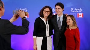 'We are ready': Canada-Europe trade deal set to kick in, mostly, by July 1