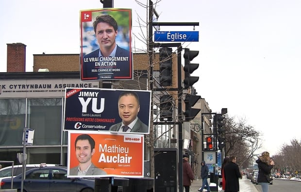 Campaign sign Saint-Laurent