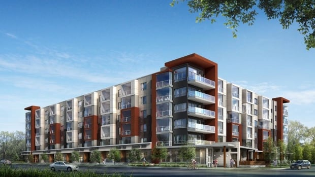 An image of a mixed-use development in Cornell, a planned community in Markham. It's a 2017 equivalent to the kind of home that architect Marco VanderMaas grew up in.