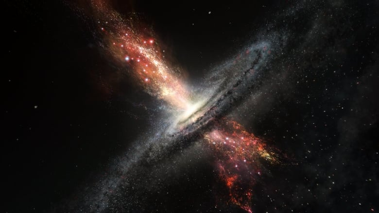 supermassive black holes give birth to stars, astronomers discover