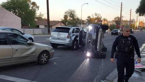 Uber self driving car accident Volvo SUV