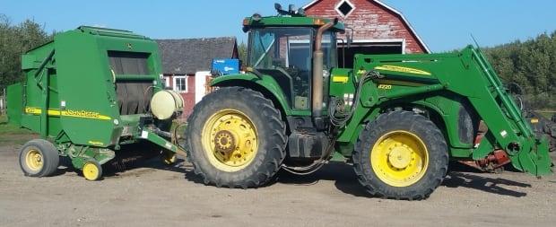 Anonymous Saskatchewan farmer's tractor