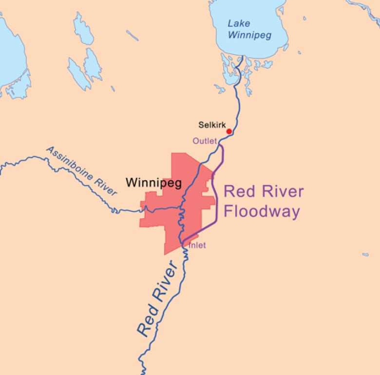 Assiniboine River Map Red River Floodway and Portage Diversion activated, cutting flood  Assiniboine River Map