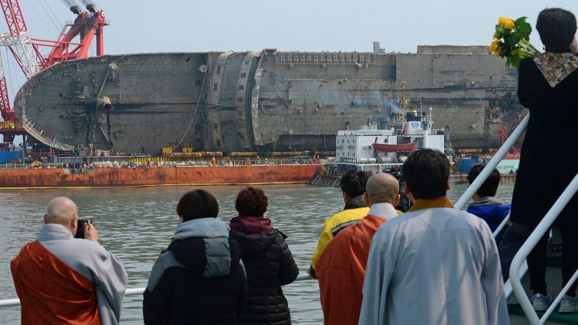 Bones found on South Korean ferry that sank in 2014 weren't human